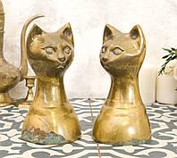 Латунные стопоры для книг, букенды, кошки, латунь, винтаж, Индия, фото 1