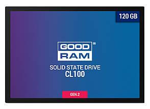 """SSD диск 120 Gb, Goodram CL100 (Gen.2), SATA 3, 2.5"""", TLC, 485/380 MB/s (SSDPR-CL100-120-G2), ссд для ноутбука, фото 2"""