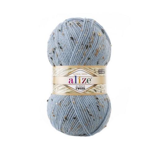 ALPACA TWEED 356 голубой - 15% альпака, 15% шерсть, 5% вискоза, 65% акрил