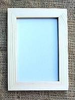 Деревянная фоторамка 10х15см, стекло, подложка.