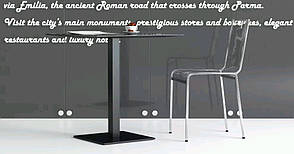 Основание для стола Милано 450/SQ60. Опора для стола. База для стола. Основа для стола. Подстолье), фото 2