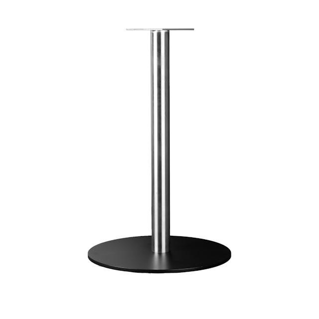 База для стола Симпли. Подстолья для стола Simply chrome\black