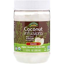 "Кокосовое масло NOW Foods, Ellyndale Naturals ""Coconut Infusions"" со вкусом чеснока (355 мл)"