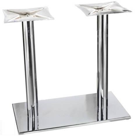 Подстолья хромированные MAT 321/76. Основания для стола хром., фото 2
