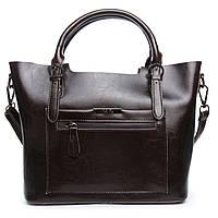 ОСТАЛАСЬ ПОСЛЕДНЯЯ! Женская сумка из натуральной кожи коричневого цвета классика, фото 1