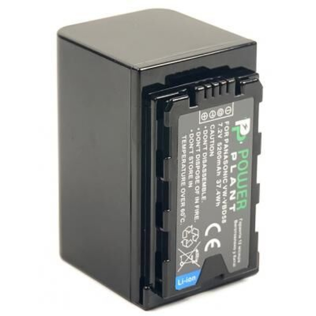 Аккумулятор к фото/видео PowerPlant Panasonic VW-VBD58, 5200mAh (CB970087)