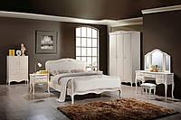 """Спальня  """"Богемия"""" 1,8х 2,0 (античный белый). Кровать Богемия"""