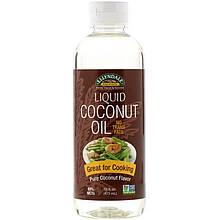 """Жидкое кокосовое масло NOW Foods, Ellyndale Naturals """"Liquid Coconut Oil"""" чистое кокосовое (473 мл)"""