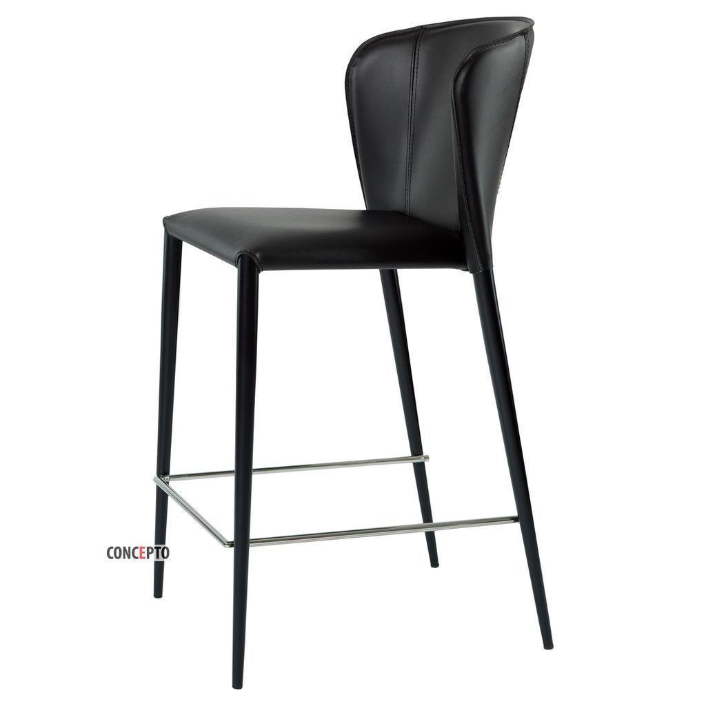 Arthur (Артур) Concepto полубарный стул кожаный чёрный