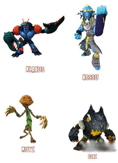 Набор 4 фигурки Gormiti: Klaxus, Hossu, Nutz и Gerz (GPH02631)