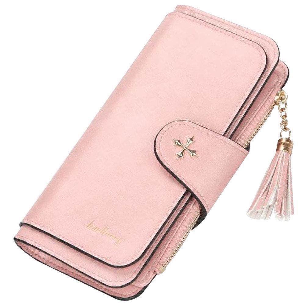 Женский кошелек Baellerry N2341 Pink, портмоне цвет пудра.