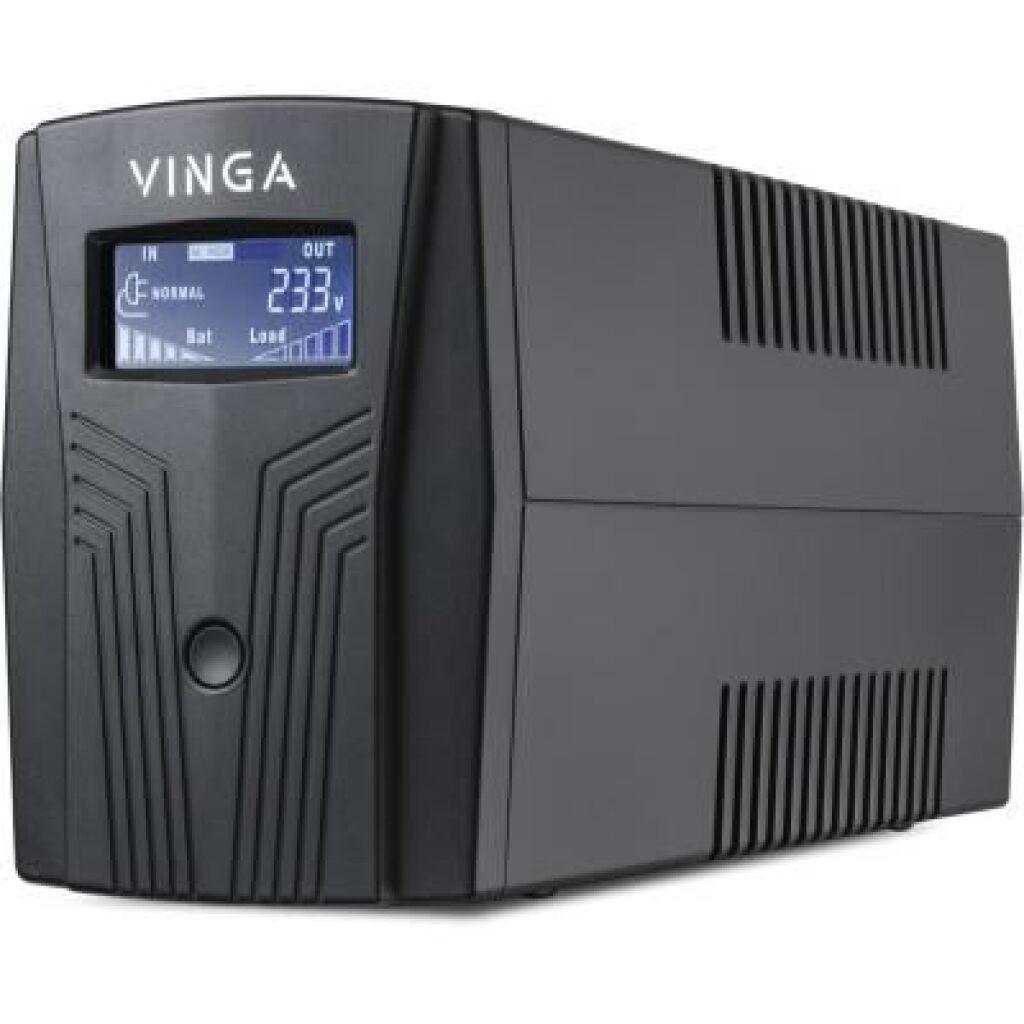 Источник бесперебойного питания Vinga LCD 1200VA plastic case with USB+RJ11 (VPC-1200PU), фото 1