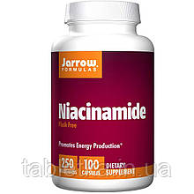 Jarrow Formulas, Никотинамид, 250 мг, 100 капсул