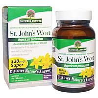 Nature's Answer, Супер зверобой, стандартизированный травяной экстракт, 320 мг, 60 растительных капсул