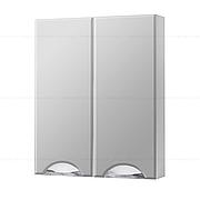 Зеркальный навесной шкаф с двумя дверками ГРАЦИЯ ЗНШ 60 (белый)