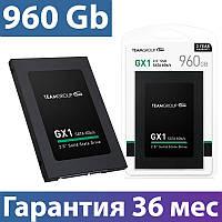 "SSD диск 960 Gb, Team GX1, SATA 3, 2.5"", 3D TLC, 530/480 MB/s (T253X1960G0C101), ссд для ноутбука"