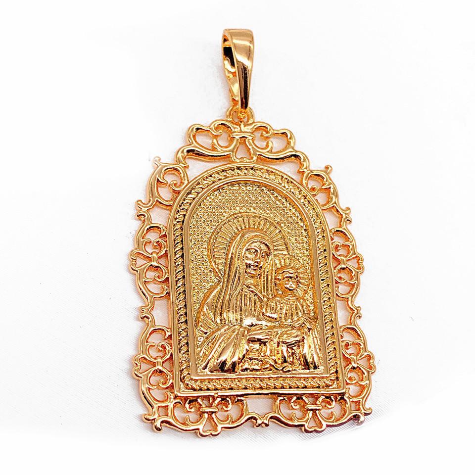 Иконка Xuping Божья матерь с младенцем 3.9см л331