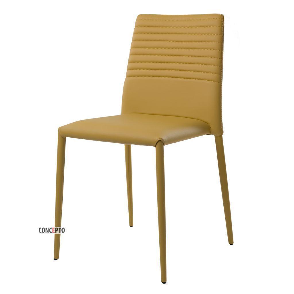 Basic (Бэйсик) Concepto стул кожзам горчично-жёлтый