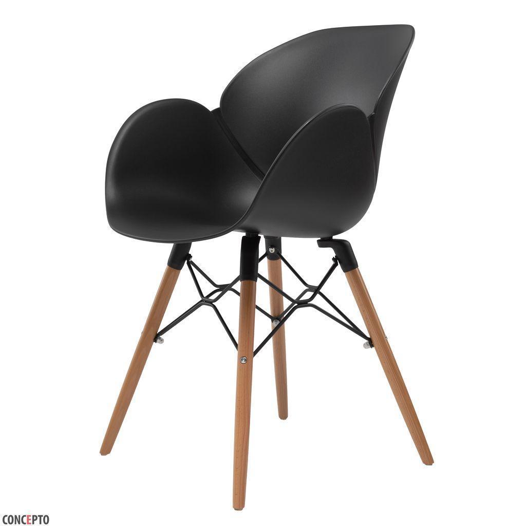 Friend (Френд) Concepto кресло пластиковое чёрное