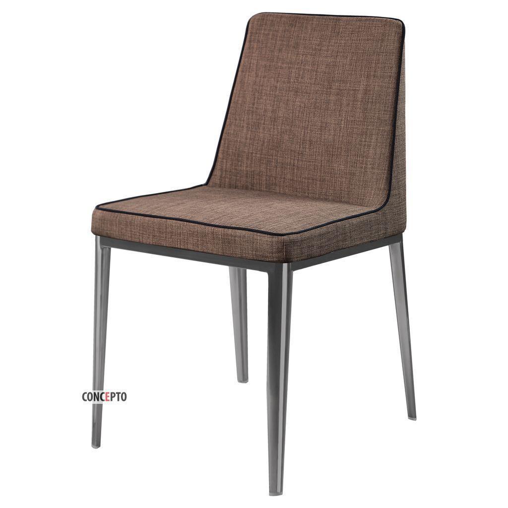 Gentleman Chrome (Джентльмен Хром) Concepto стул мягкий пепельно-коричневый
