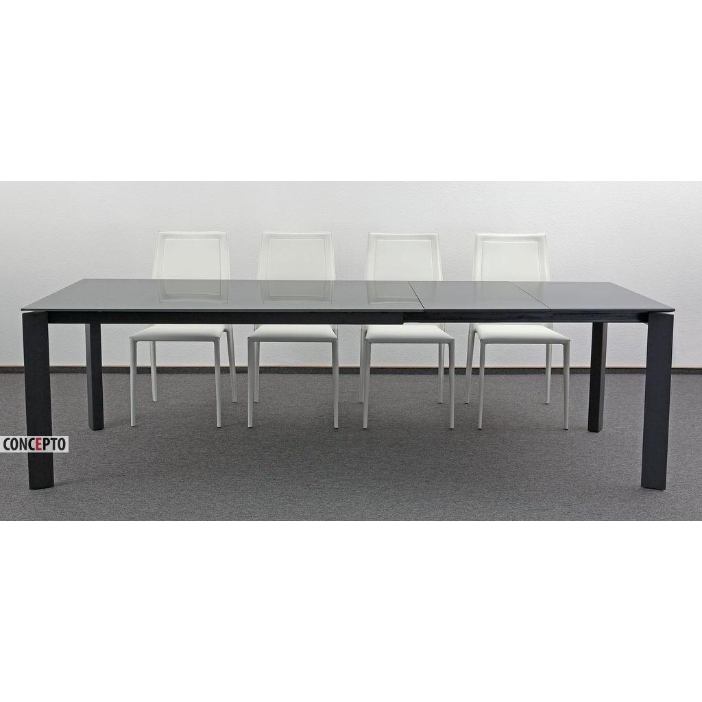 Gloss Grey (Глос Грэй) Concepto стол раскладной серый 160-260 см