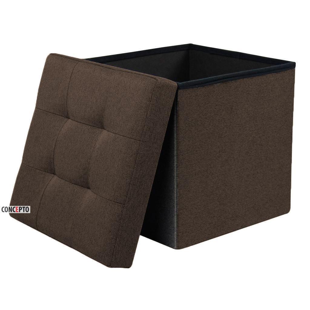 Mix (Микс) Concepto складной пуф коричневый с местом для хранения