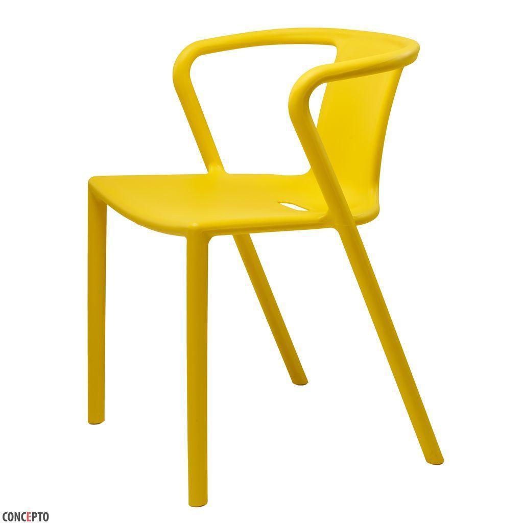 Space (Спейс) Concepto cтул пластиковый жёлтый