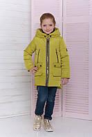 Детская куртка для девочки весна - осень цвет Оливка