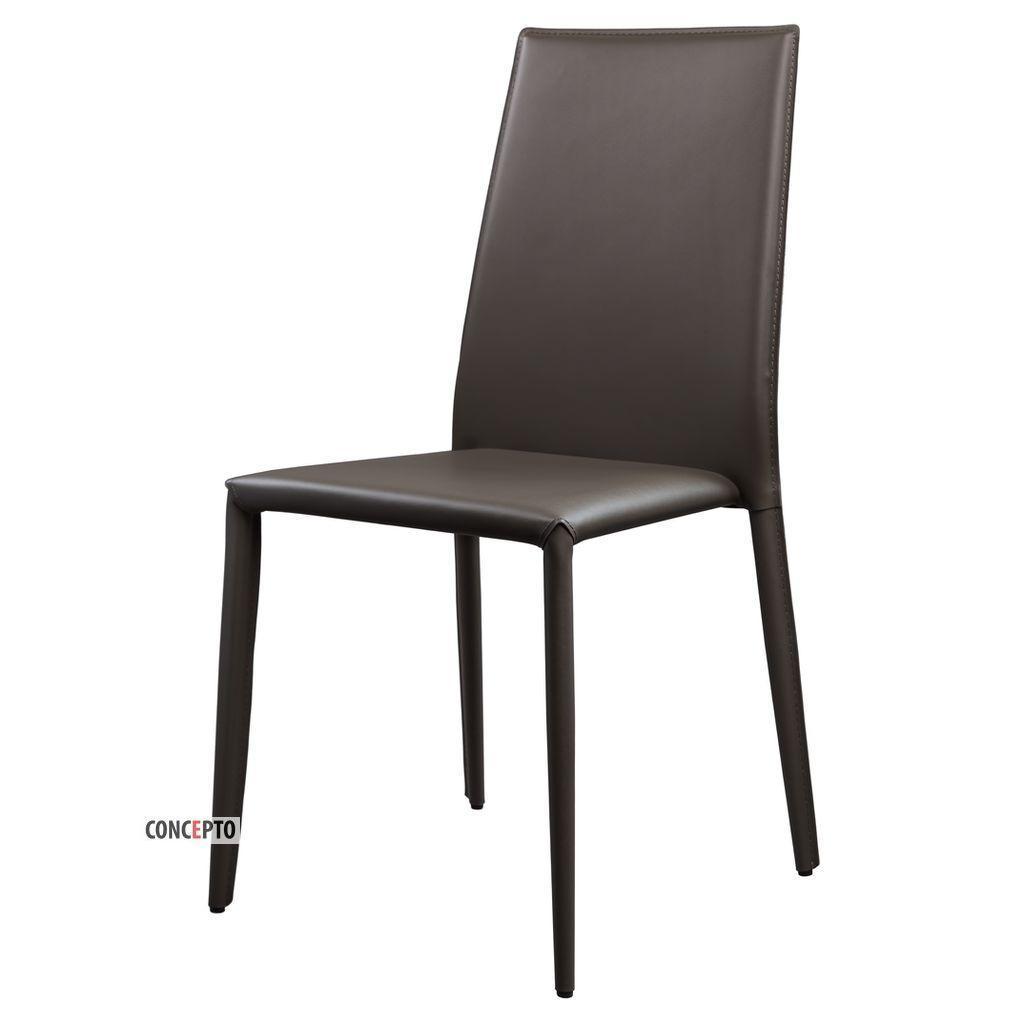 Straight (Стрэйт) Concepto стул кожаный пепельно-серый