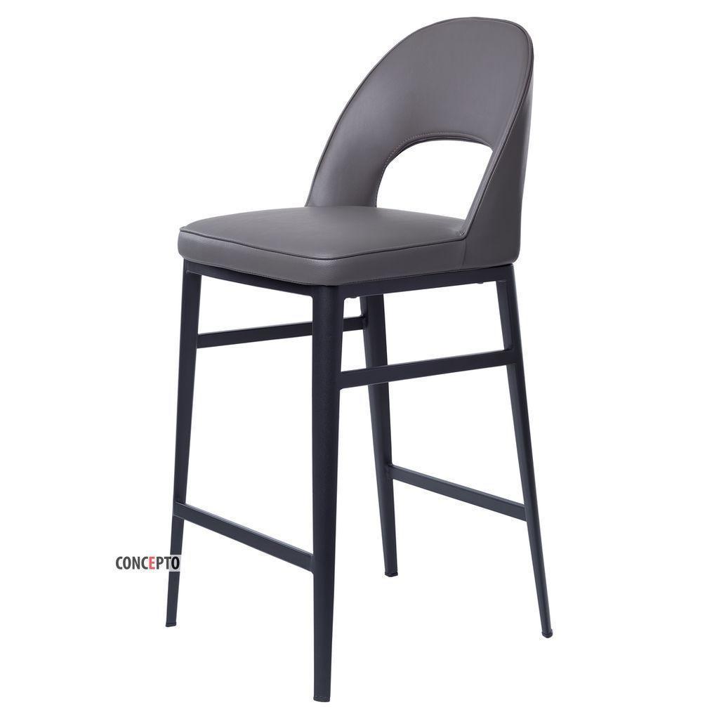 Toledo (Толедо) Concepto полубарный стул кожзам серый графит, фото 1