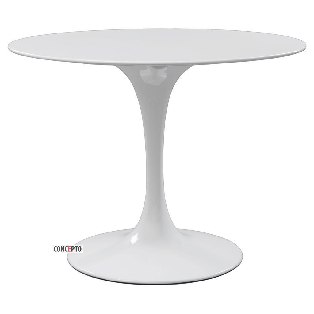 Tulip (Тулип)  Concepto стол круглый белый 100 см