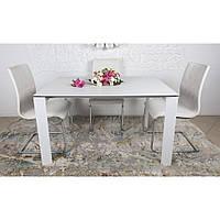 Bristol B (Бристоль) стол раскладной 130-200 см стеклокерамика белый, фото 1
