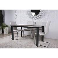 Bristol B (Бристоль) стол раскладной 130-200 см графит, фото 1