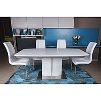 Dallas (Даллас) стол раскладной 140-180 см белый, фото 1