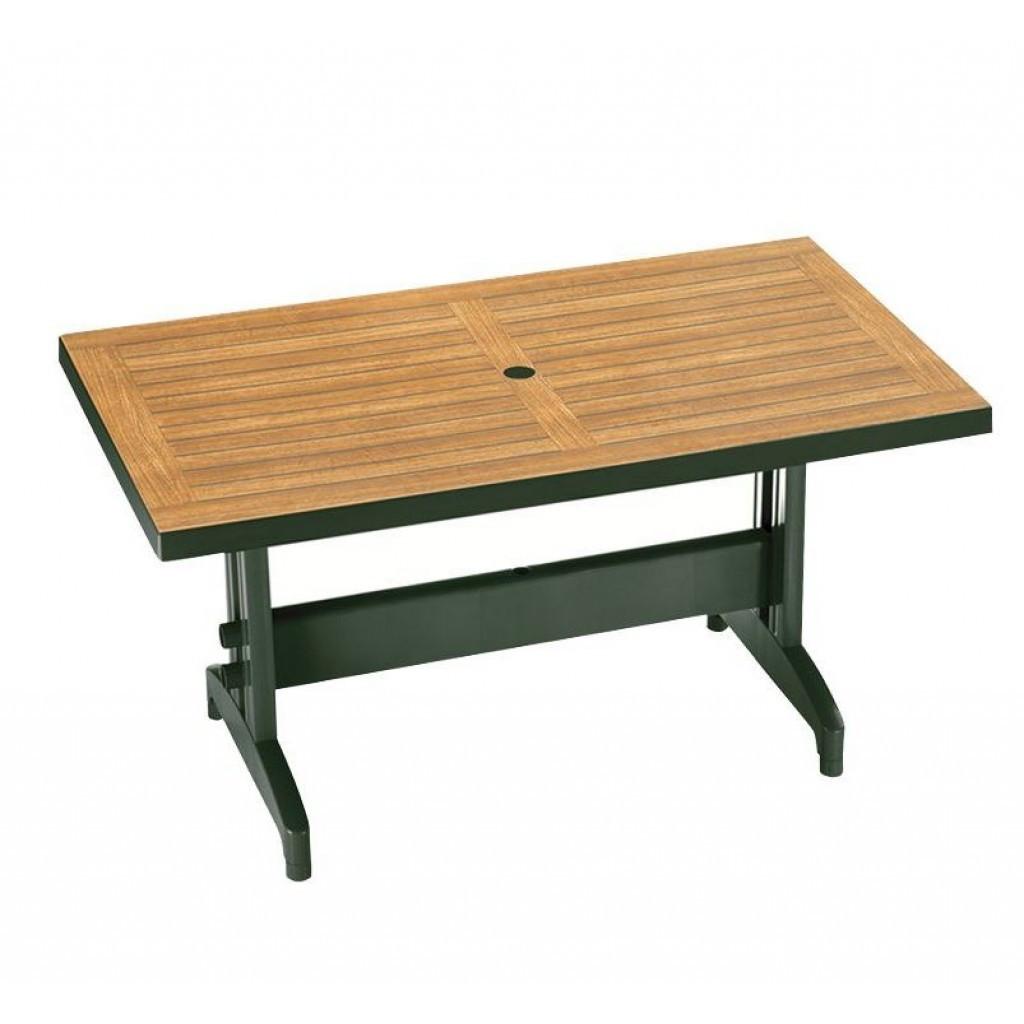 Diva (Дива) стол пластиковый прямоугольный 140 см зелёный