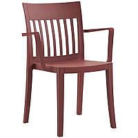 Eden K (Эден К) кресло пластиковое матовое тёмно-красное