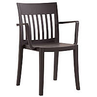 Eden K (Эден К) кресло пластиковое матовое тёмно-коричневое