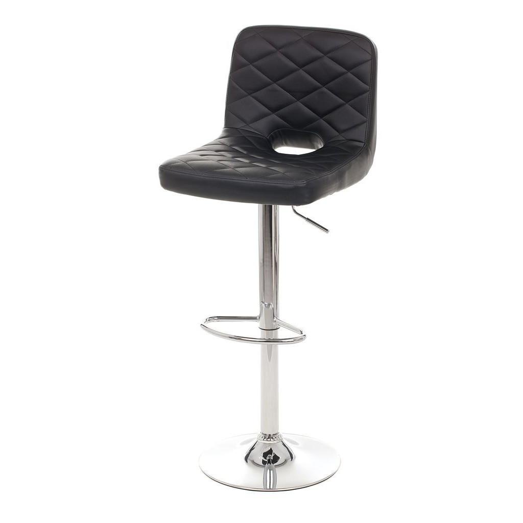 Edgar (Эдгар) барный стул кожзам чёрный