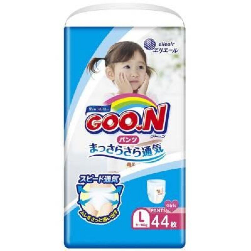 Подгузник GOO.N Трусики для девочек 9-14 кг (L, 44 шт) (853628)