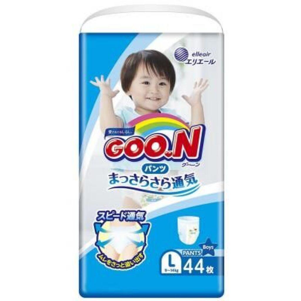 Подгузник GOO.N Трусики для мальчиков 9-14 кг (L, 44 шт) (853627)
