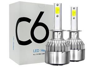 Лампы автомобильные светодиодные ZIRY C-6 H4 (9003/HB2) 36W/6500K, головной свет