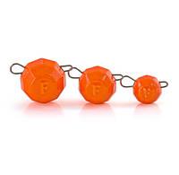 СВИНЕЦ Fanatik ГРАНЁНЫЙ  цвет оранжевый (5 шт в упаковке)