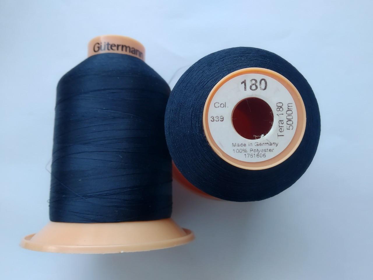 Нитка Gutermann Tera 180 /col 339 / 5000м / колір темно синій