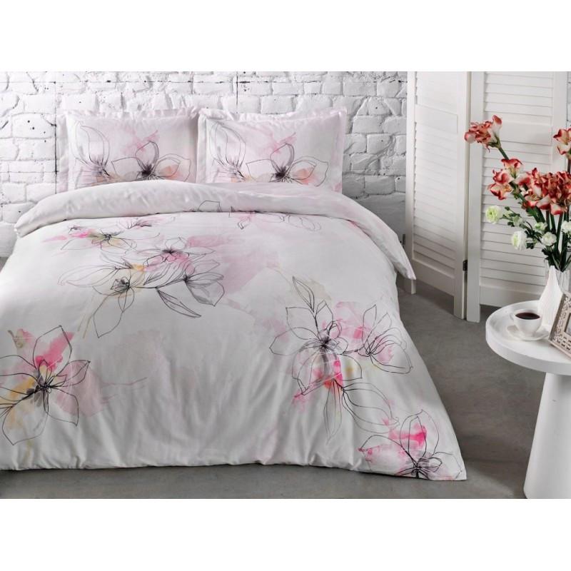 Постельное белье Tac сатин - Jude pembe v01 розовый евро