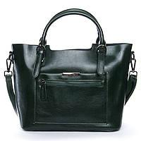 ОСТАЛАСЬ ПОСЛЕДНЯЯ! Женская сумка из натуральной кожи зеленого цвета классика, фото 1