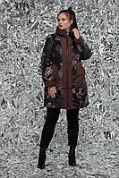 Плащ женский демисезонный двусторонний, размер 54, 56, 58, 60, 62, 64, 66, 68, 70, 72, цвет коричневый