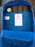 Рюкзак Fjallraven Kanken Classic (blue), рюкзак Канкен, голубой портфель канкен, фото 5