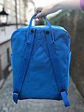 Рюкзак Fjallraven Kanken Classic (blue), рюкзак Канкен, голубой портфель канкен, фото 4