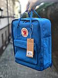 Рюкзак Fjallraven Kanken Classic (blue), рюкзак Канкен, голубой портфель канкен, фото 3