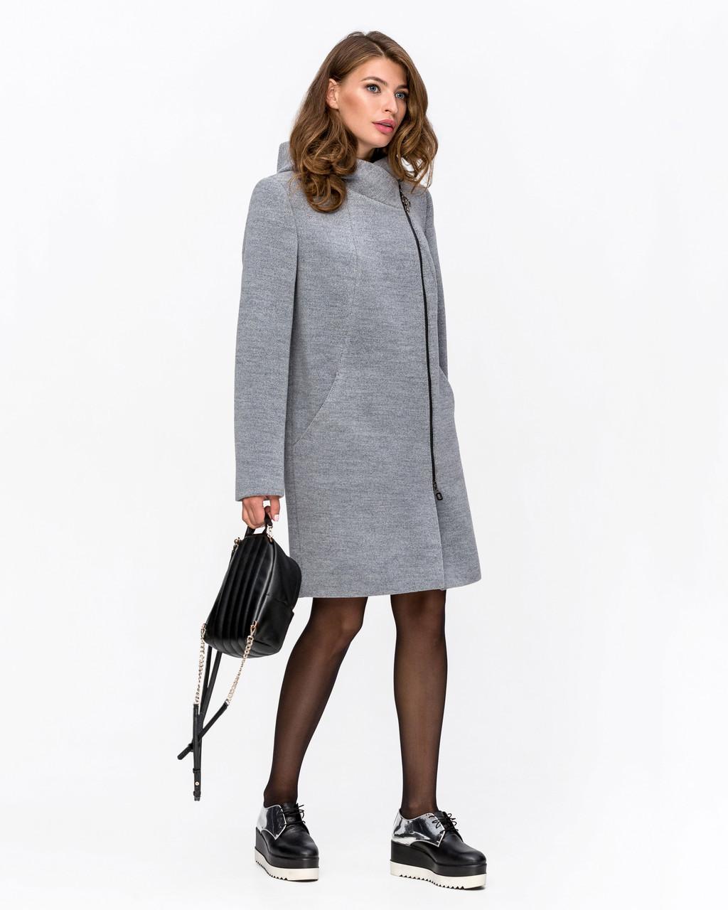 Модне пальто в клітку з 42 по 52 розмір